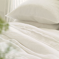 A wonderful natural white 100% linen. Washed for softness giving a beautiful relaxed quality.