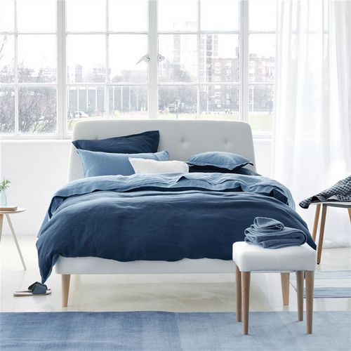 Designers Guild Biella Midnight and Wedgwood Bedding
