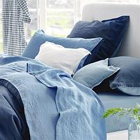 Designers Guild Biella Midnight and Wedgwood Bedding
