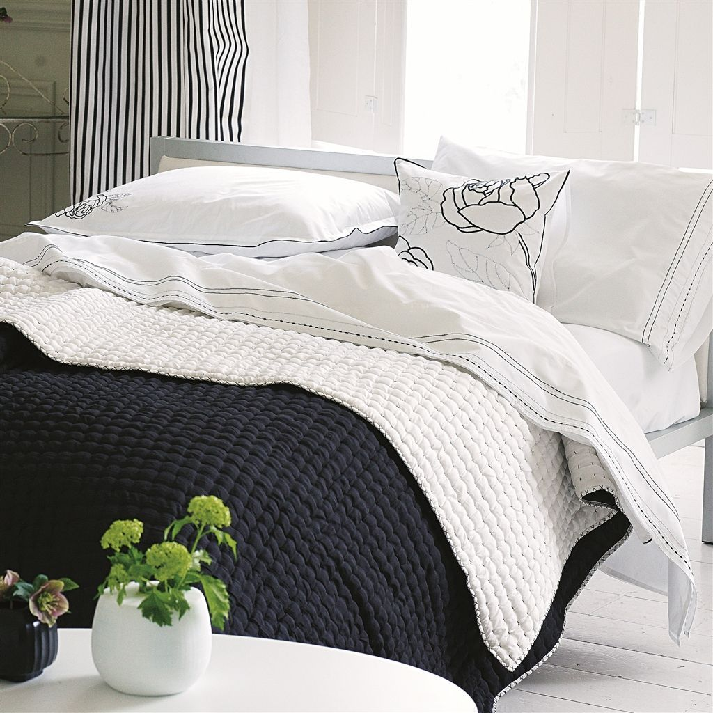 Designers Guild Chenevard Black & White Quilts & Shams : quilts designers guild - Adamdwight.com