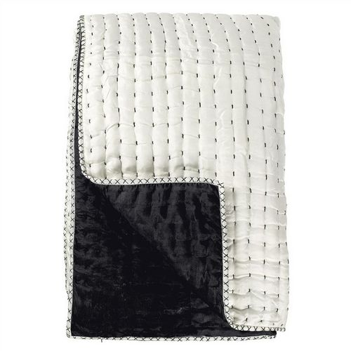 Designers Guild Chenevard Black & White Quilted Coverlet