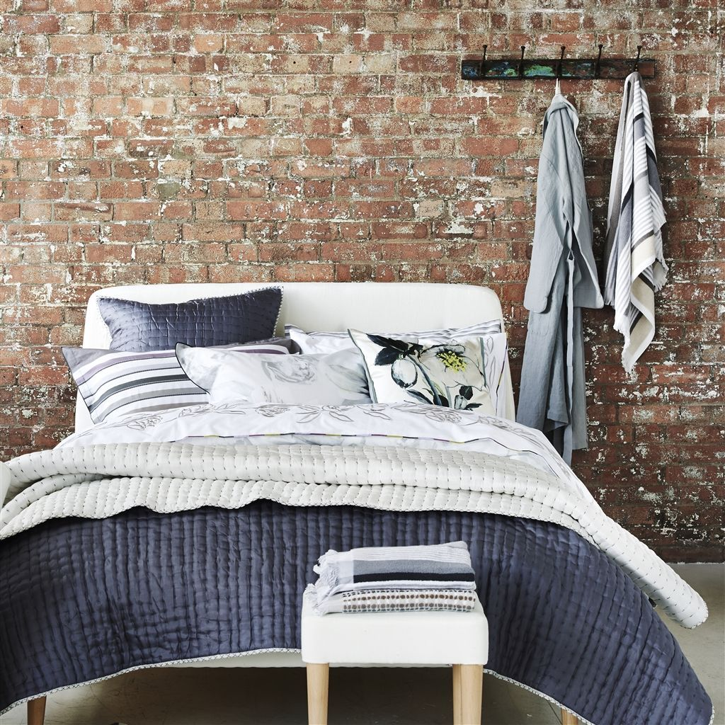 Hotel Collection Ladder Stitch: Designers Guild Chenevard Chalk And Graphite Quilts And Shams