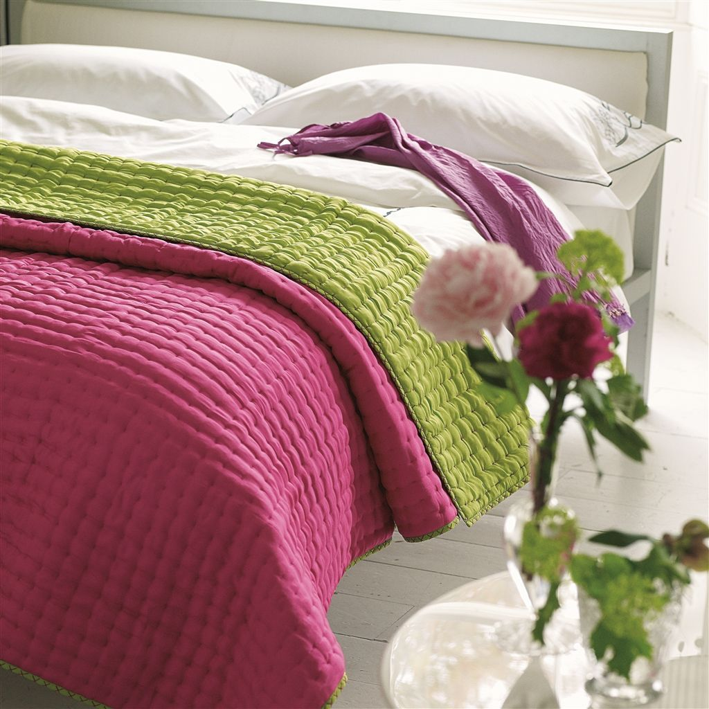 Designers Guild Chenevard Fuchsia & Lime Quilts & Shams : quilts designers guild - Adamdwight.com
