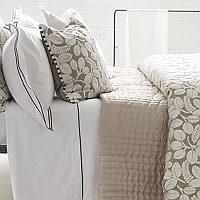Designers Guild Chenevard Natural & Chalk Quilts & Shams