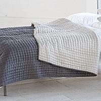 Designers Guild Chenevard Silver & Slate Quilts & Shams