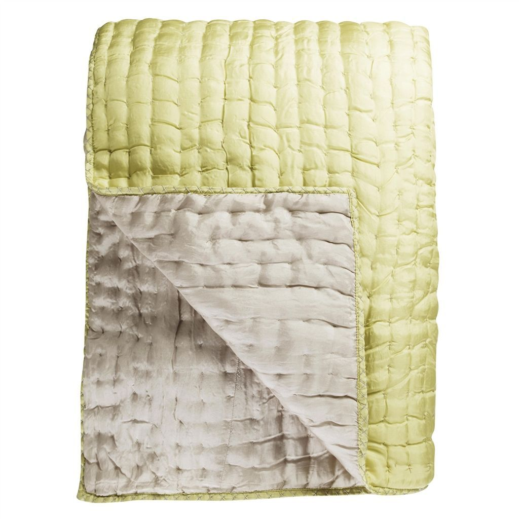 Hotel Collection Ladder Stitch: Designers Guild Chenevard Silver And Willow Quilts And Shams