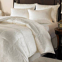 This comforter and pillow is the ultimate in luxury, filled with Eiderdown, considered the best and rarest of all down products.