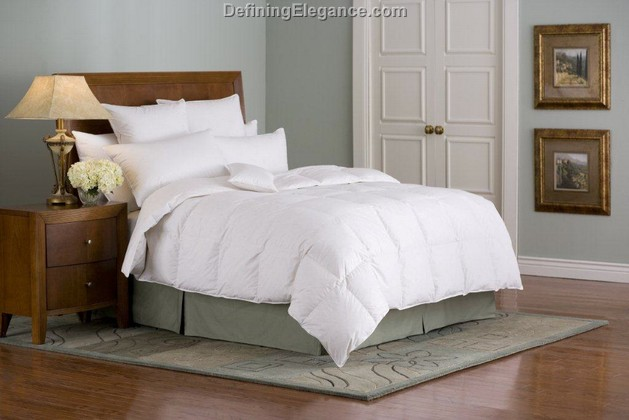 Downright Organa 650+ Hungarian White Goose Down Comforter & Down Pillow
