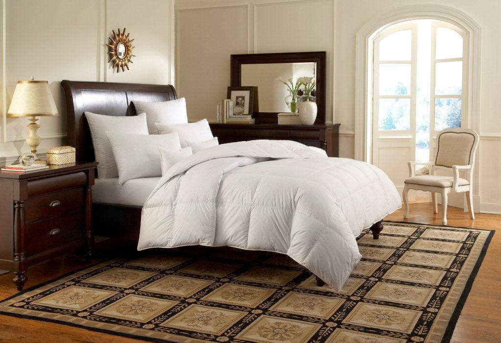 Downright Logana 800 Siberian White Goose Down Comforter and Pillows