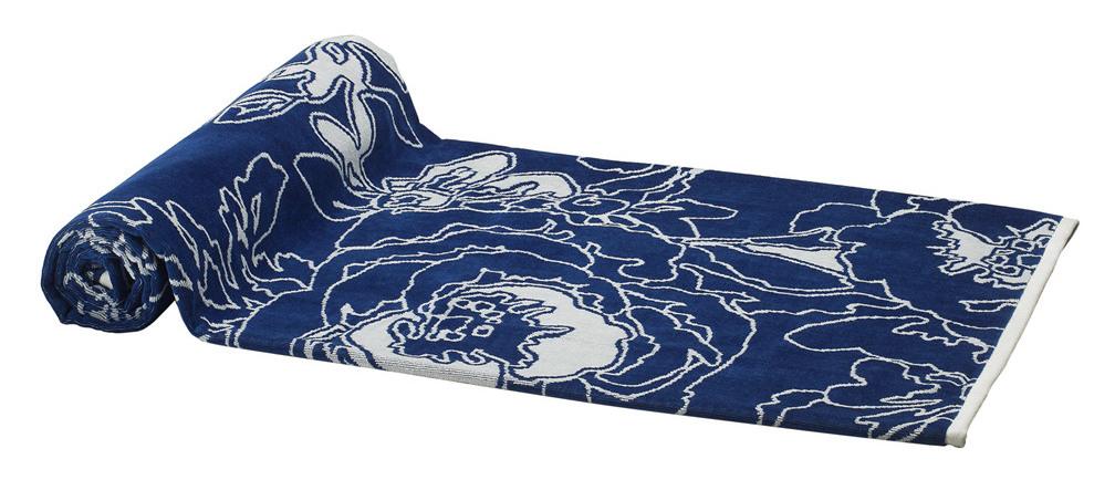 Luxury Beach Towels On Elaiva Allurments Blue Graphic Flowers Beach Towel