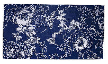 Elaiva Allurments Blue Graphic Flowers Beach Towels