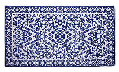 Elaiva Allurements Blue Little Leaves Beach Towels
