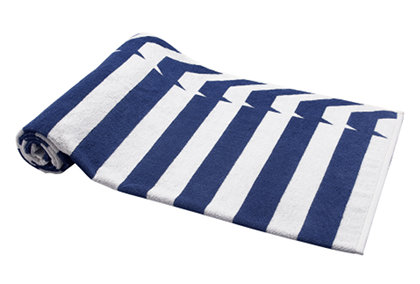 Elaiva Allurements Blue Nauticals Stripes Beach Towels