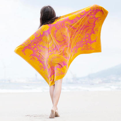 Model with Elaiva Orient Mistic Beach Towels