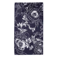 Elaiva Allurments Gray Graphic Flowers Beach Towel
