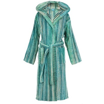 Elaiva Allurements Green Grass Hooded Bath Robe