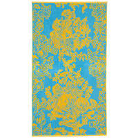 Elaiva Allurments Turquoise Ancient Flowers Beach Towel