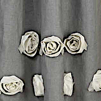 Emdee International Burlap Deco Rose Drapery Panel