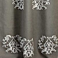 Emdee International Burlap Collection - Medallion Drapery Panel