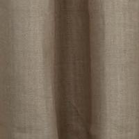 Emdee International Burlap Collection - Foil Herringbone Burlap Drapery Panel and Dec Pillow