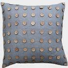 Emdee International Burlap Collection - Button Dec Pillow.