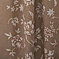 Emdee International Burlap Floral Vine Drapery Panel