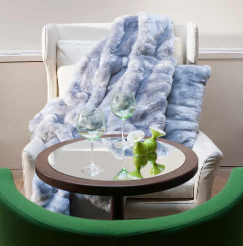 Evelyne Prelonge Everest Faux Fur Throw