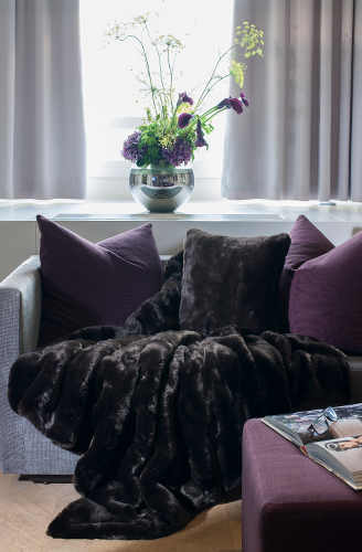 Evelyne Prelonge Couture Collection Faux Fur in Grizzli exhibits a beautiful luster.