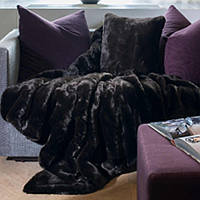 Evelyne Prelonge Home Couture Grizzli Collection quality is superior to other faux fur throws, bed covers and decorative pillows.