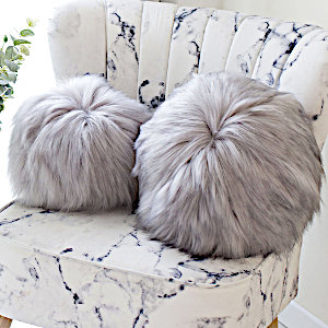 Evelyne Prelonge Himalaya Pearl Faux Fur Throw