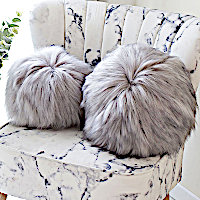 Evelyne Prelonge Himalaya Pearl Luxe Faux Fur Bedding and Accessories