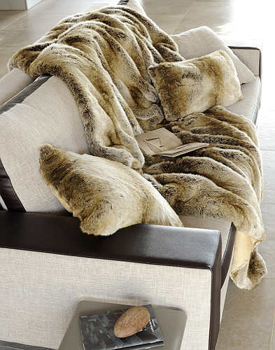 Evelyne Prelonge Couture Collection Faux Fur in Monaco exhibits a beautiful luster.