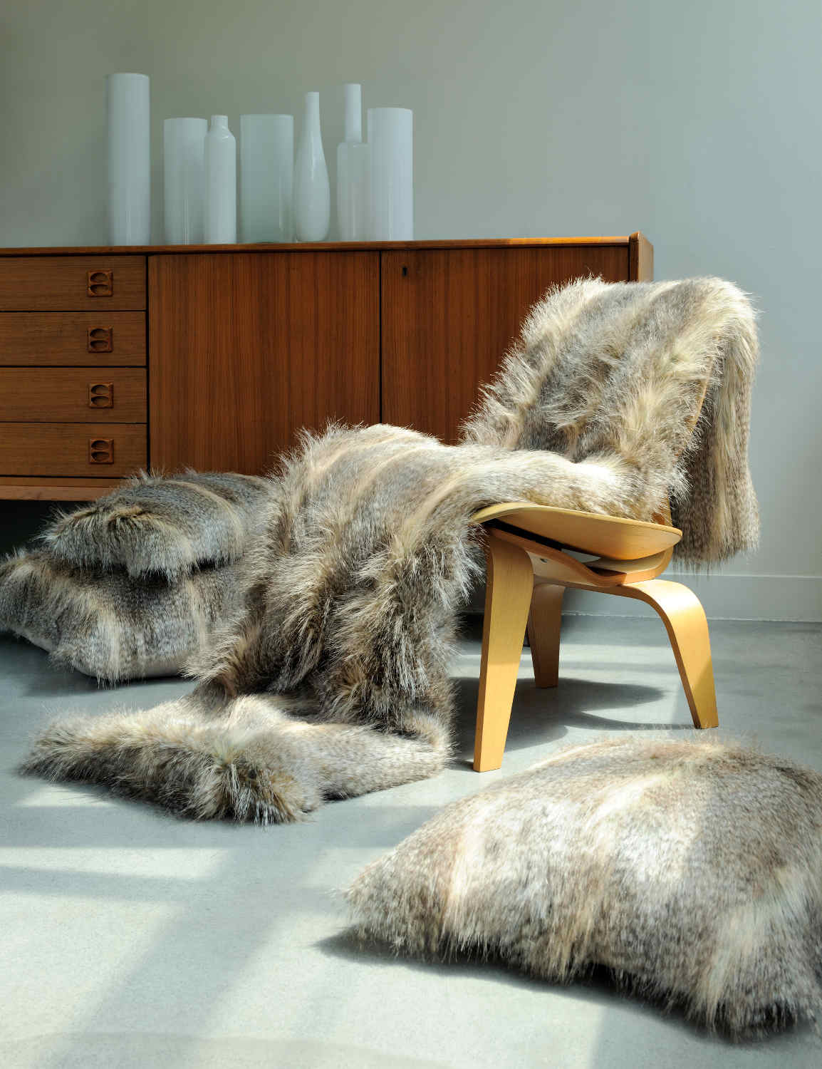 Evelyne Prelonge Luxe Faux Fur Bed Covers And Accessories