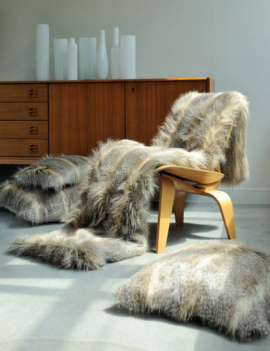 Evelyne Prelonge Luxe Faux Fur Bed Covers & Accessories in Siberia