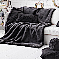 Evelyne Prelonge Smoky Faux Fur Bedding and Accessories