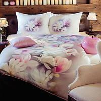 Beautiful printed large magnolia covers TENCEL fabric