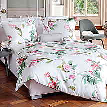 Lillys and flowers deliver a clean decorative spring like look for this printed TENCEL fabric.