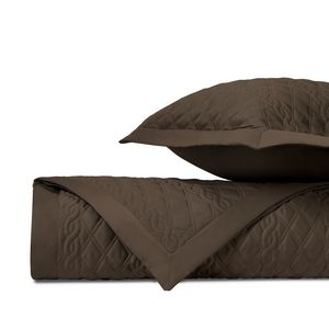 Home Treasures Abbey Quilted Bedding Fabric - Chocolate.