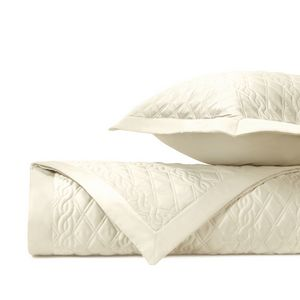 Home Treasures Abbey Quilted Bedding Fabric - Ivory.