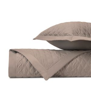 Home Treasures Abbey Quilted Bedding Fabric - Mist Gray.