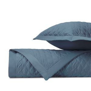 Home Treasures Abbey Quilted Bedding Fabric - Slate Blue.