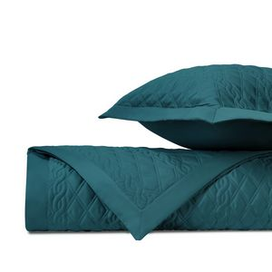 Home Treasures Abbey Quilted Bedding Fabric - Teal.
