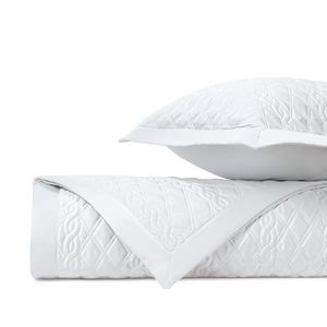 Home Treasures Abbey Quilted Bedding Fabric - White.