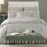 Option of Solid, Stripe or Dots pattern to create a coordinated bedding ensemble.