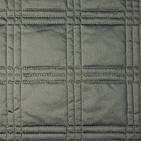 Home Treasures Block Quilted Coverlet & Shams - Royal Sateen 300 TC