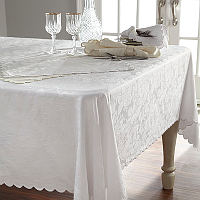 Home Treasures Blooms Table Linens - A 300 thread count, 100% Egyptian cotton Italian damask, with allover rose pattern, finisheclass=