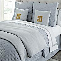 Home Treasures Linens Houston - Denim Textured Fabric Bedding