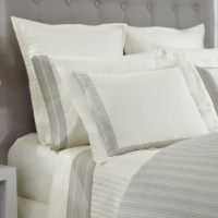 Home Treasures Oxford Bedding - A 100% Egyptian cotton, Italian damask, available Wide Stripe and Narrow Stripe that is paired wclass=