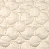 Home Treasures Petals Quilted Bedding is 100% Egyptian Cotton Sateen and includes a duvet, flat sheet, shams, dust ruffle.