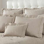 Home Treasures Provenza Bedding - A 100% Italian linen fabric. Optional finishes. Duvet covers have knife edge. Machine wash.